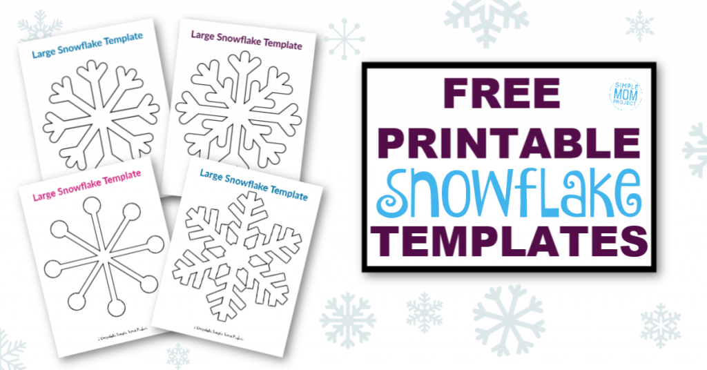 It is a picture of Printable Snowflake Stencils with simple