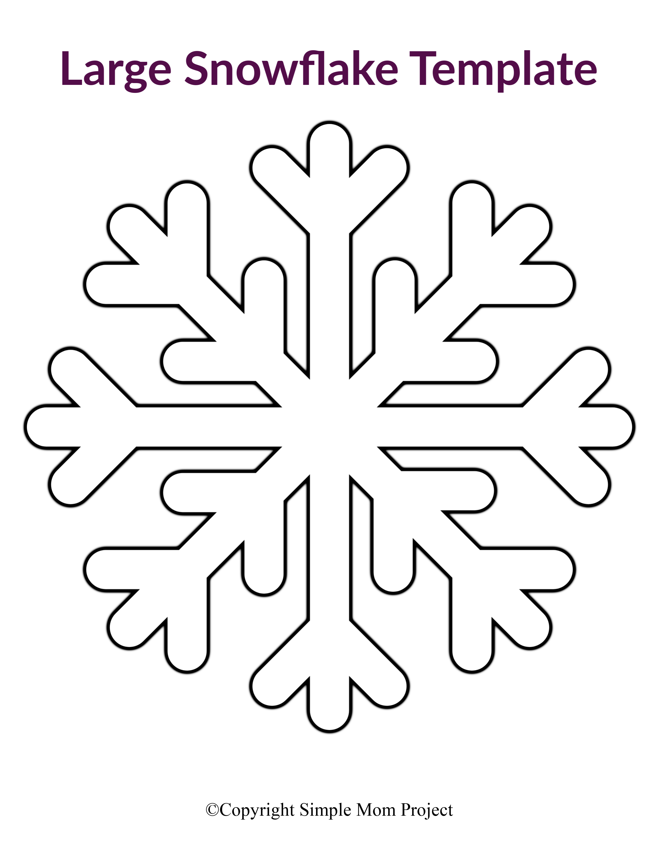 This is a picture of Snowflakes Printable for numbered