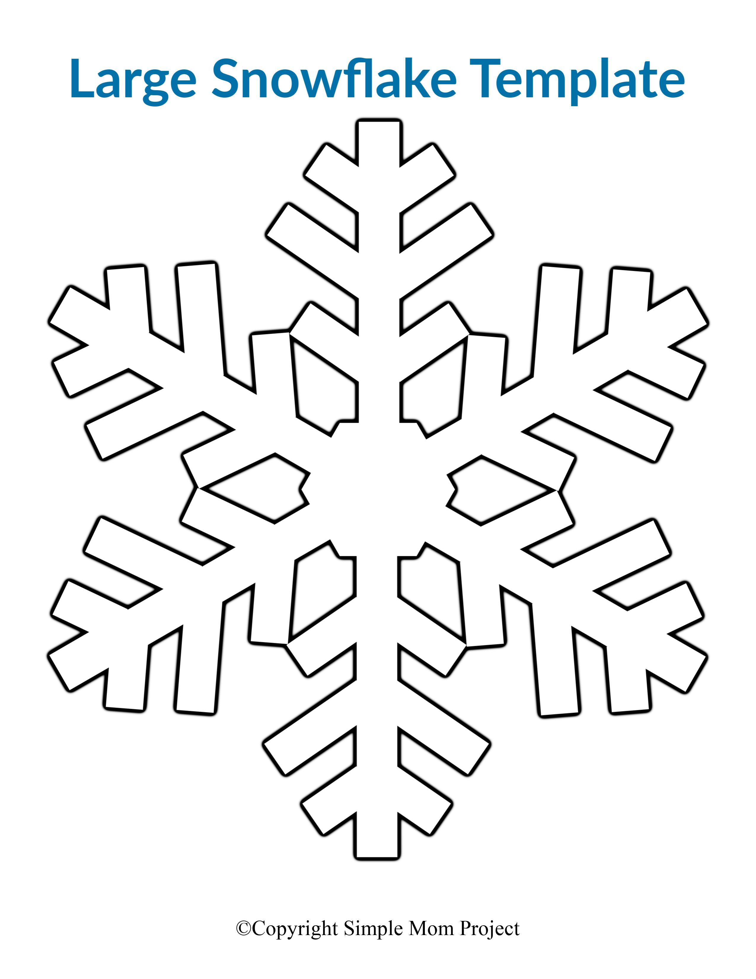 8 Free Printable Large Snowflake Templates - Simple Mom ...