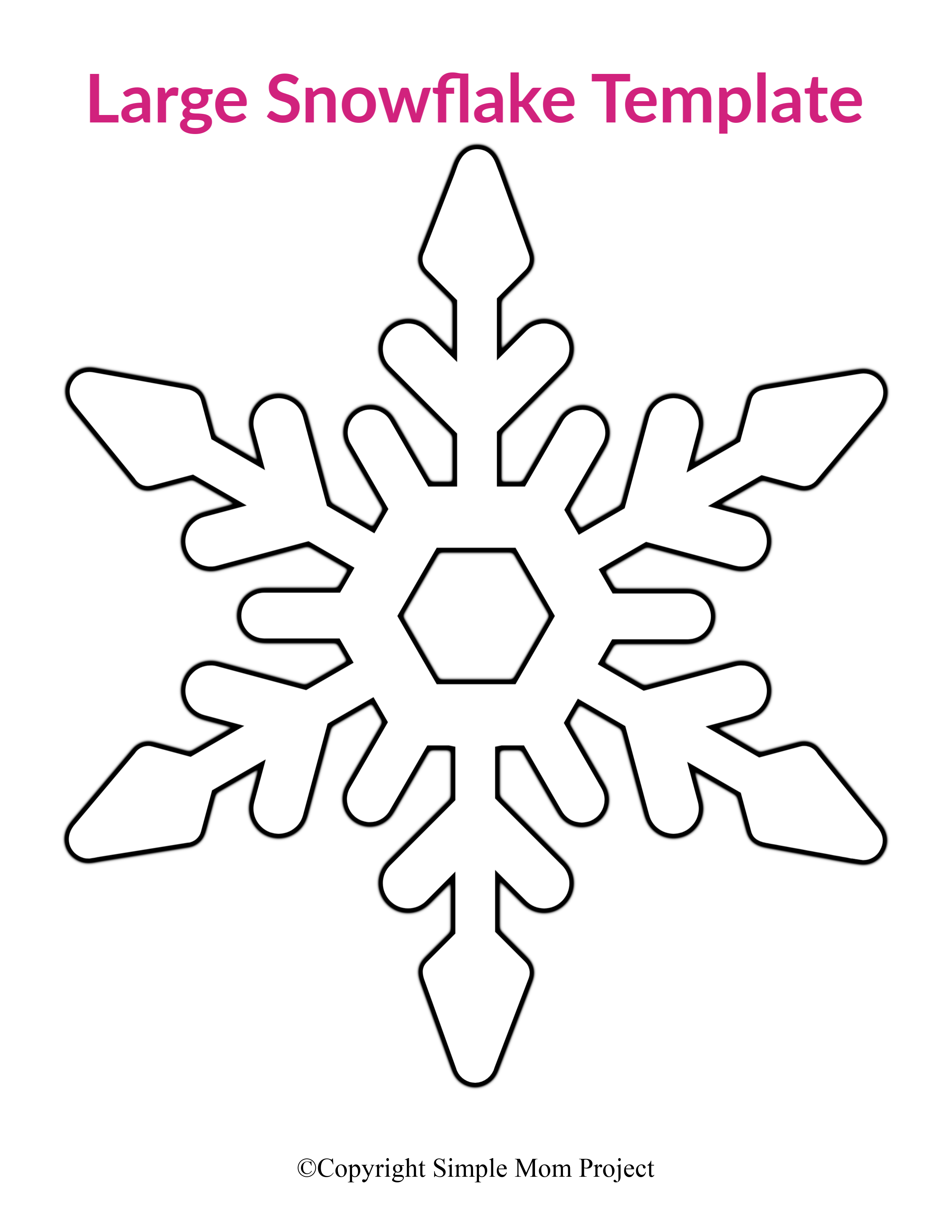 8 Free Printable Large Snowflake Templates - Simple Mom ...