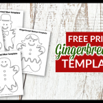 Click now for 8 FREE printable gingerbread boy, gingerbread woman and a gingerbread man template matterns. They are perfect holiday coloring pages, diy Christmas ornaments or use the gingerbread man outlines in your holiday sewing crafts. #gingerbreadman #gingerbreadmantemplates #HolidayCrafts #HolidayColoringPages #SimpleMomProject