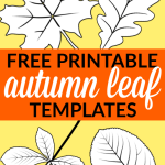 Looking for an autumn leaf craft idea? Use these free large printable leaf cutout templates so spark your creativity! These fall leaf stencils make a perfect easy coloring page for preschoolers or have your kindergartner paint them as Thanksgiving decorations! #LeafTemplates #AutumnLeaves #FallLeaf #LeafCraft #SimpleMomProject