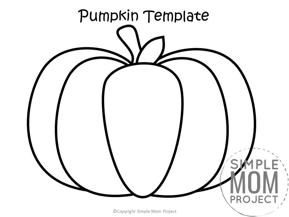 Free Printable Autumn and Fall Pumpkin Template, Stencil and Pattern