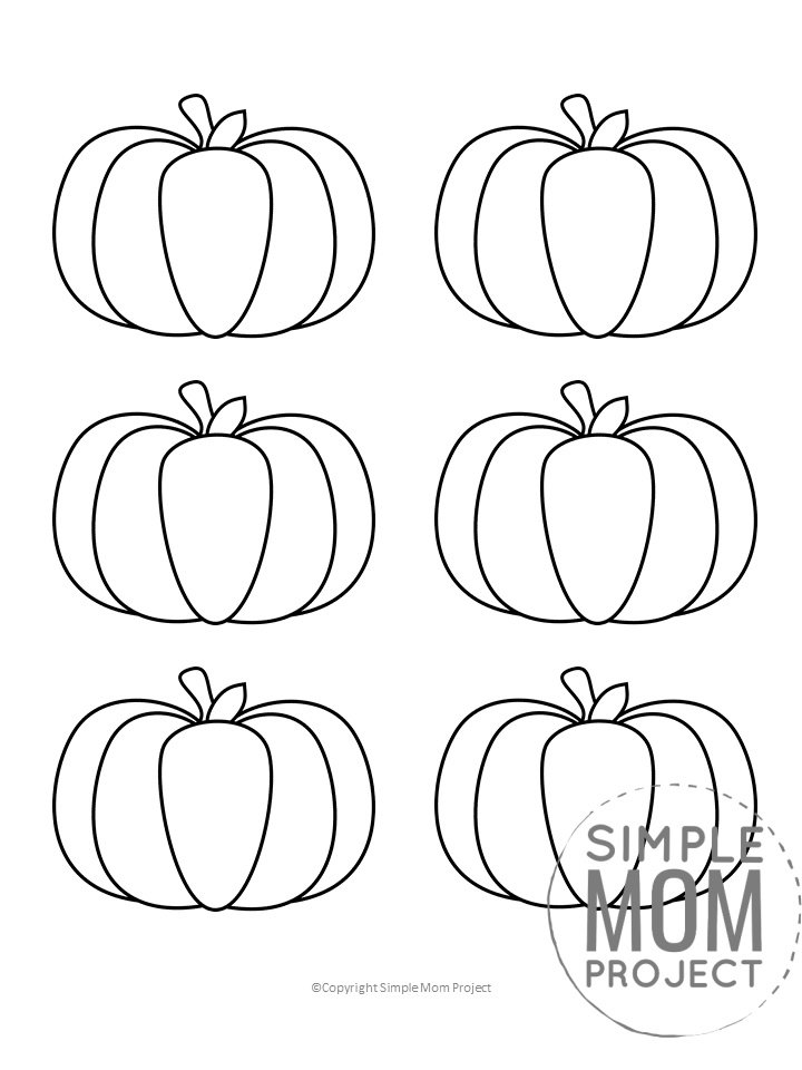 Free Small Printable Autumn and Fall Pumpkin Template, Stencil and Pattern 2