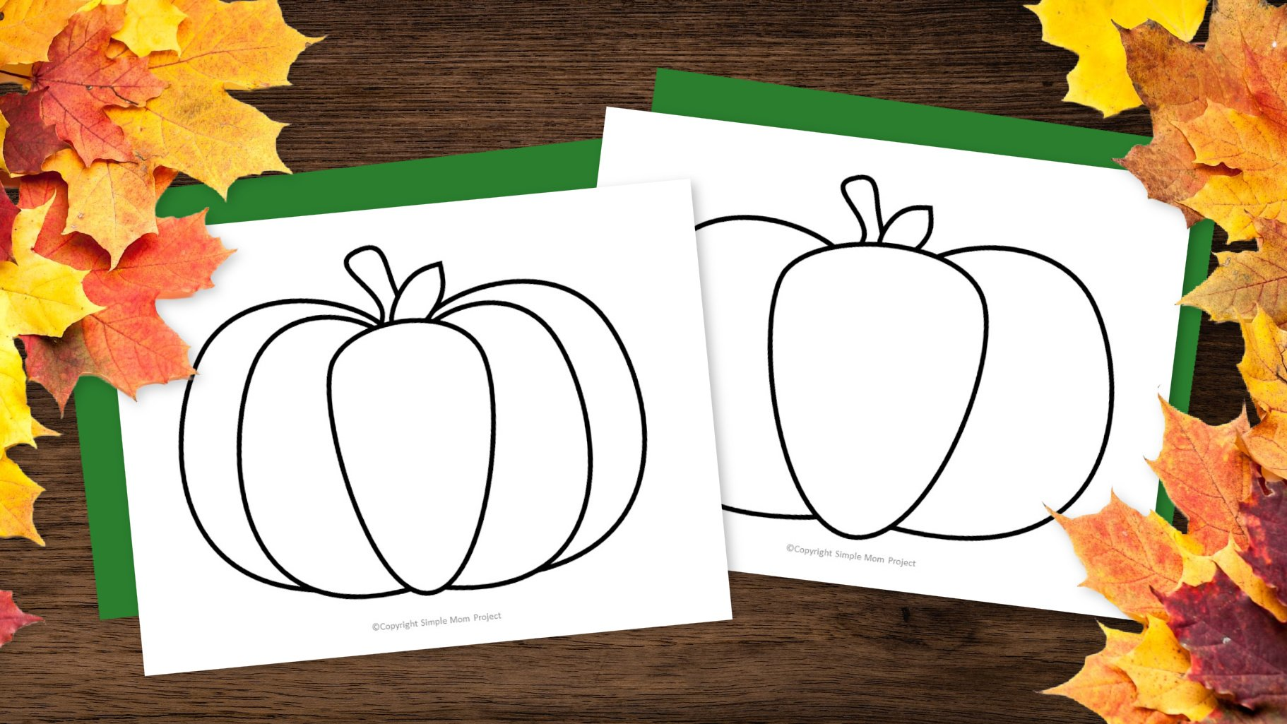 Free Printable Pumpkin Template Outline Stencil for fall Crafts Simple