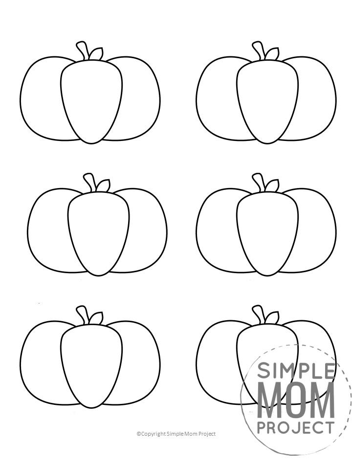 Free Small Printable Autumn and Fall Pumpkin Template, Stencil