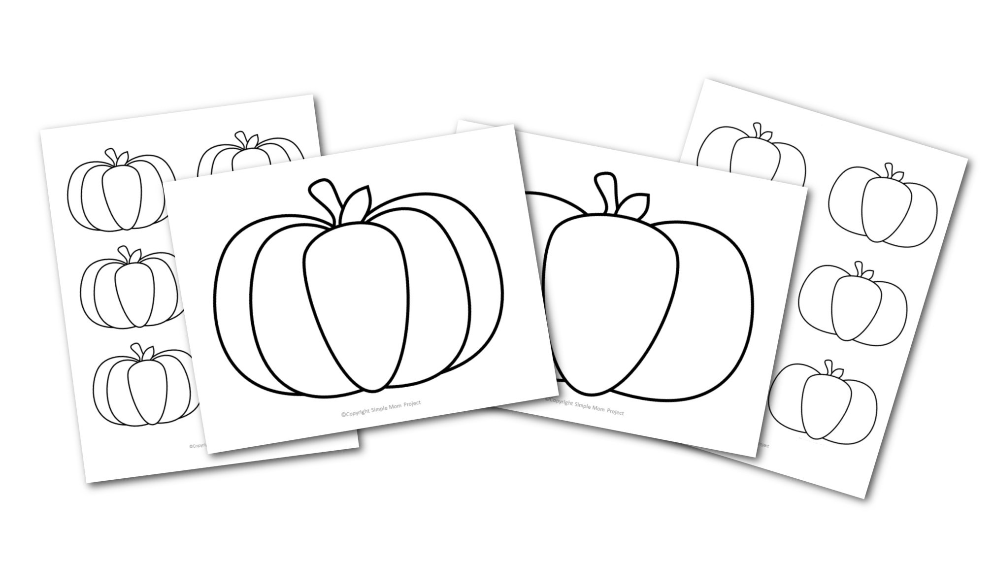 Free Printable Large Pumpkin Outline Template for fall Crafts Simple