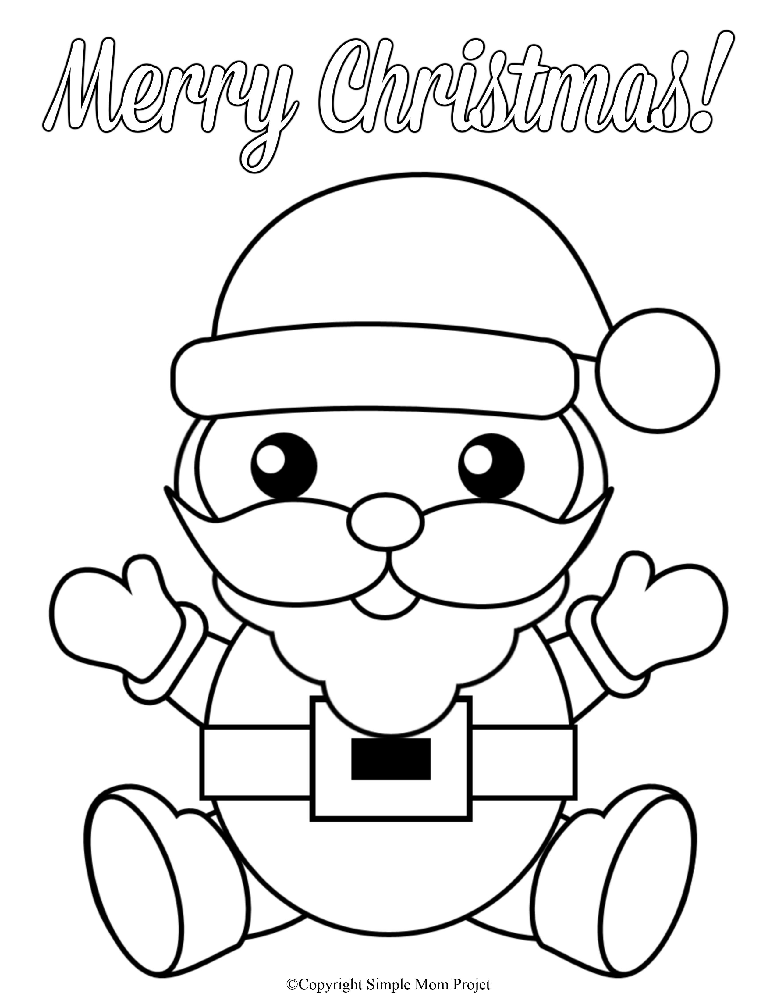 Free Printable Santa Claus Coloring Sheet for Kids
