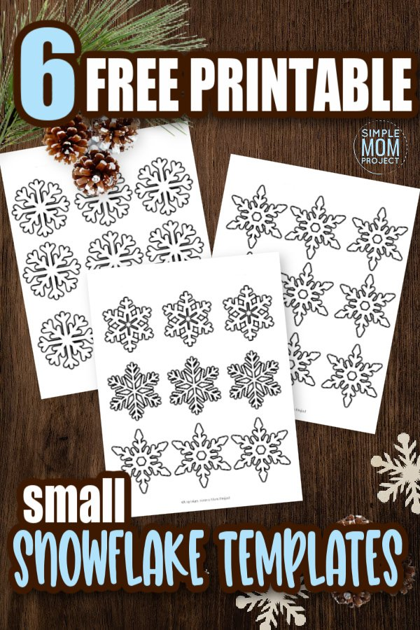 Click and print all of our small and free printable paper snowflake patterns, snowflake templates and snowflake outlines! Perfect for a Frozen snowflake party, simple snowflake coloring page or decorate the snowflake classroom activity. #snowflake #snowflaketemplate #coloringpage #winter #winteractivity #SimpleMomProject