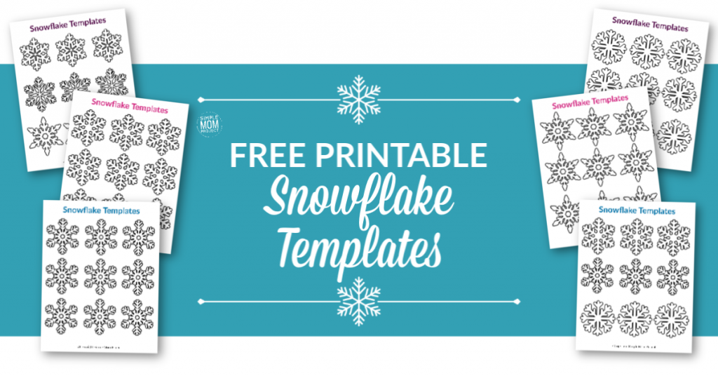 Click and print one or all of our small and free printable paper snowflake patterns! Perfect for a Frozen birthday party, simple snowflake coloring page or decorate the snowflake classroom activity. #snowflake #snowflaketemplate #coloringpage #winter #winteractivity #SimpleMomProject