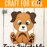 Click now and use this cute free printable dog template for make this super easy Build-a-Puppy dog craft for kids, preschoolers and toddlers! He is perfect as a dog coloring sheet, in a farm animal theme unit or kindergarten classroom project. #dogcrafts #dogs #puupycrafts #dogtemplates #SimpleMomProject