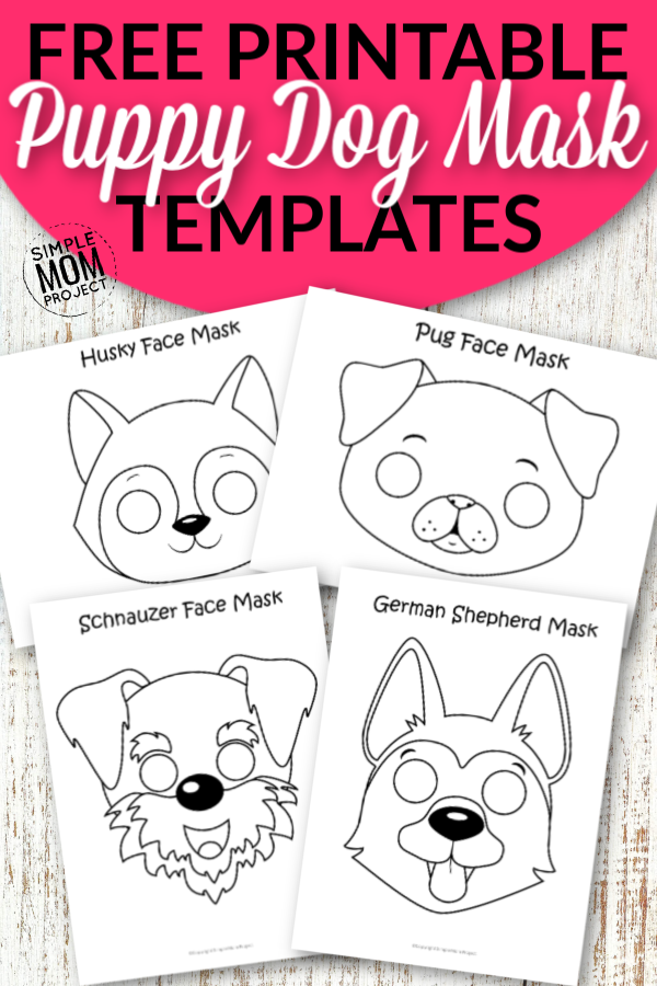 Free Printable Dog Face Mask Coloring Pages for Kids