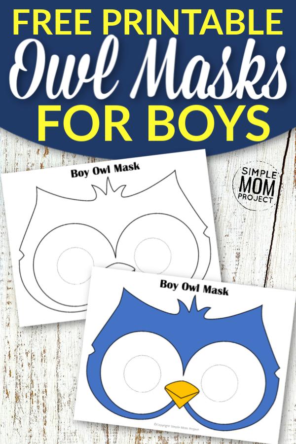 Free Printable Owl Mask Templates for Boys