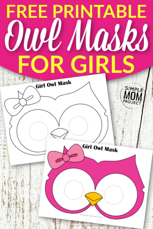 Free Printable Owl Mask Templates for Girls
