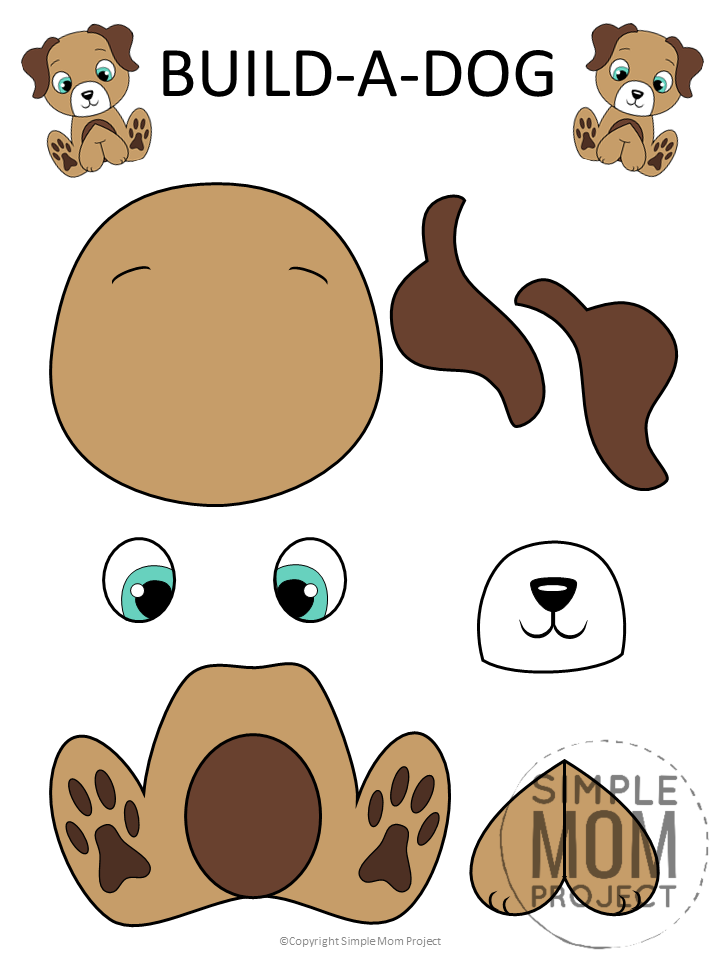 Free Printable Puppy Dog Craft for Kids, toddlers and preschoolers (1)