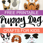 Click and use any of our printable templates to make these adorable dog crafts! From handmade paperbag dog puppets to constructing your own build-a-dog, there's a puppy craft for everyone! Especially those preschoolers and kindergartners in the classroom! #dogcrafts #puppycrafts #printablecrafts #dogtemplates #SimpleMomProject