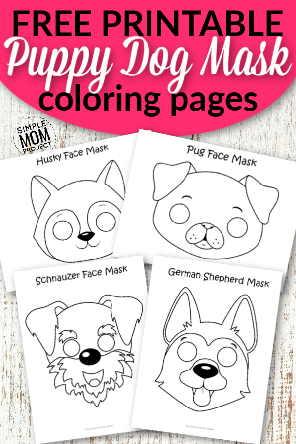 Free Printable Puppy Dog Mask Outline Coloring Sheets for Kids