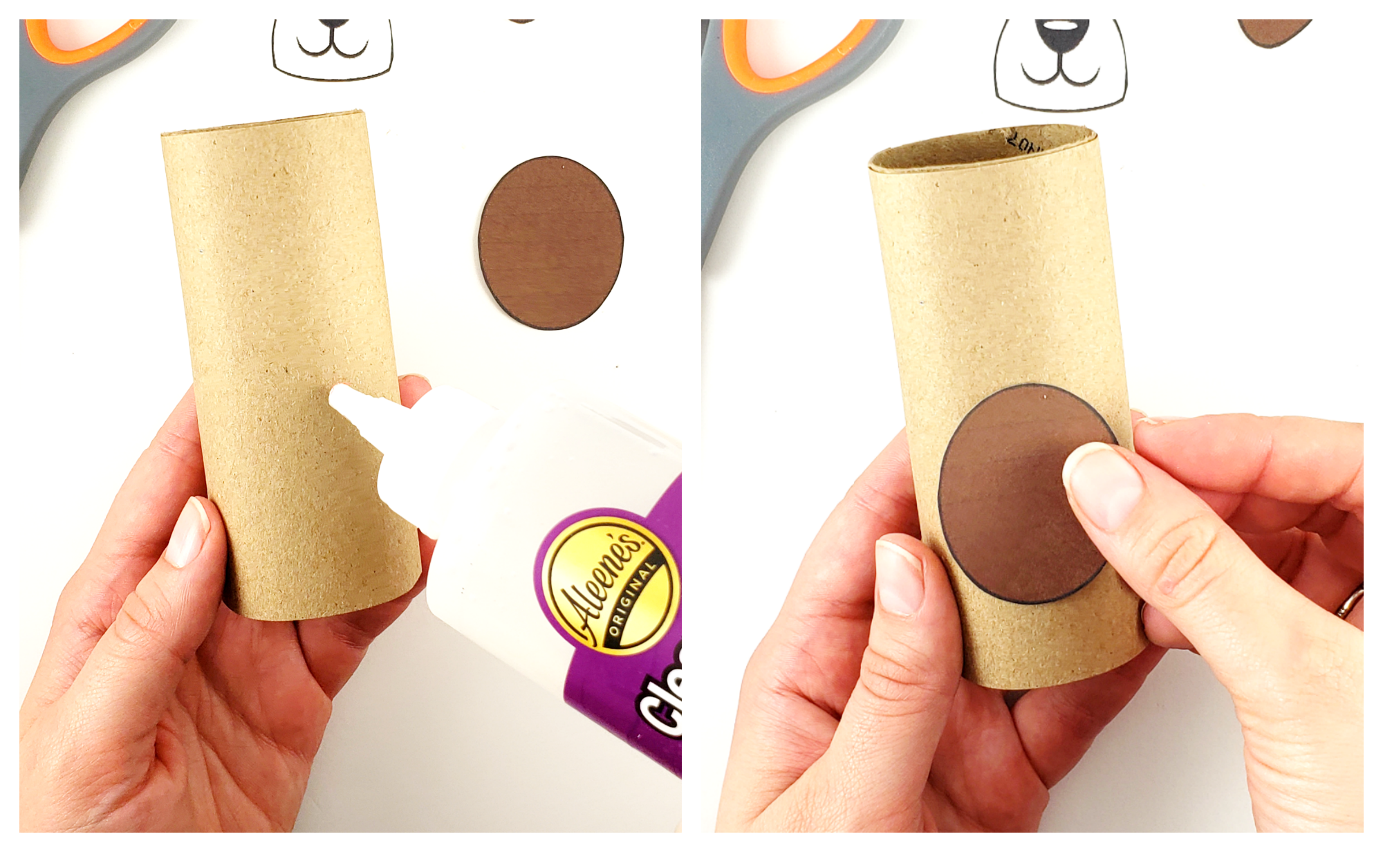 Free Printable Toilet Paper Roll Dog Craft for Kids, Preschoolers and toddlers