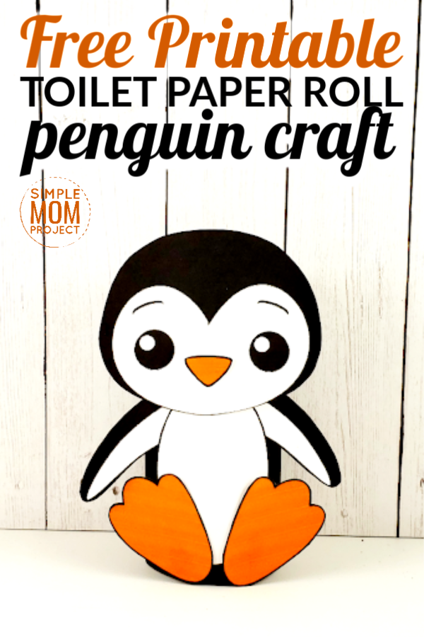 Toilet Paper Roll Penguin Craft for toddlers, preschool and kindergarten age kids