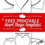 These FREE printable, full page printable heart templates are perfect for a Valentine's Day cut-outs or Valentine crafts. These heart coloring pages are great for Valentine's Day cards, DIY wedding invitations, party garland, or for use as templates for art projects. They make cute coloring pages, perfect templates for string art and quilts, and a nice background for writing projects. Get your free printable large heart coloring pages and get started with fun and simple projects today. #hearttemplates #heartshapetemplates #valentinehearts #valentinecards #SimpleMomProject