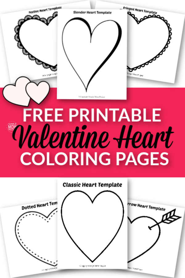 Free Printable Large Heart Shape Templates, outlines cutout stencils coloring pages