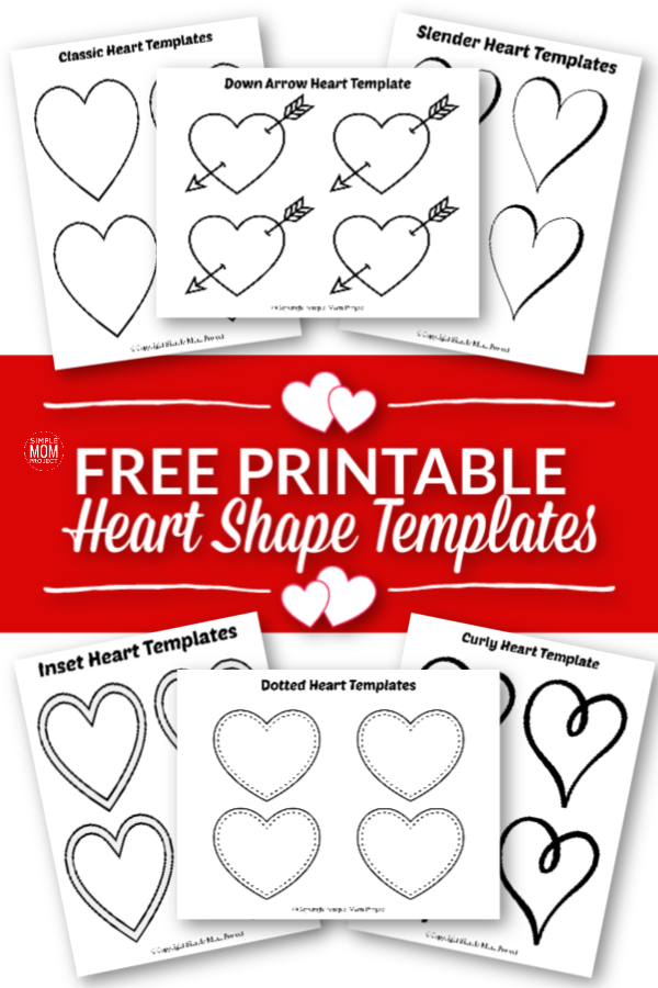 Free Printable Small Heart Shape Templates, outlines cutout stencils greeting Cards