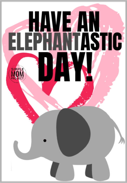 Have an elephantastic day cute elephant saying quote pun