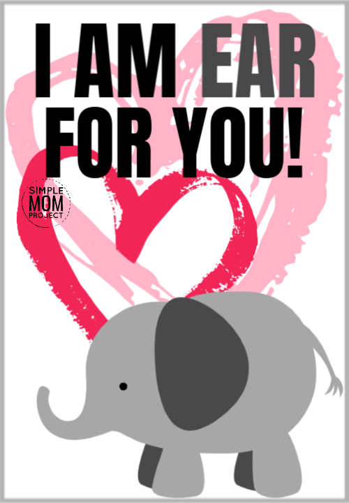 I am ear for you cute elephant saying quote pun