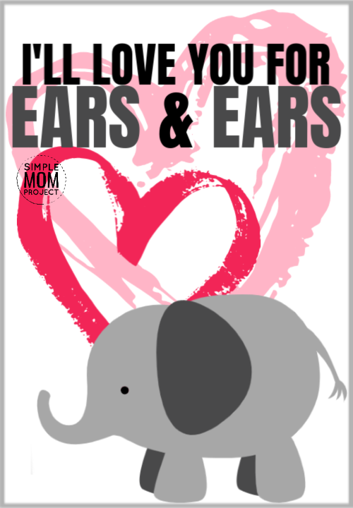 I'll love you for ears and ears cute elephant saying quote pun