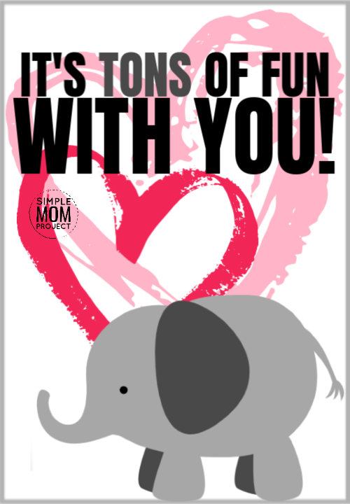 It's tons of fun with you cute elephant saying quote pun