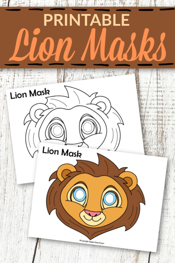 Printable Lion Mask Templates for Kids 1