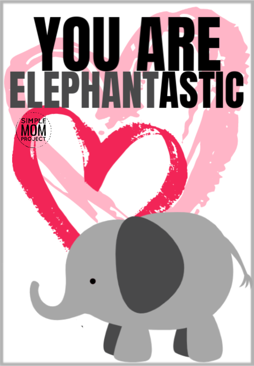 you are elephantastic cute elephant saying quote pun