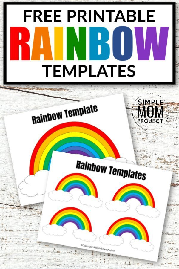 Free Printable Rainbow Templates In Large And Small Simple Mom Project