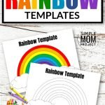 Click and print these FREE rainbow templates with various sizes from large to small; from blank to colored, these rainbow templates are perfect for kids of all ages. Use them as St. Patrick's Day coloring pages, unicorn birthday invitations or fruit loop activities. #Rainbow #RainbowTemplates #RainbowCrafts