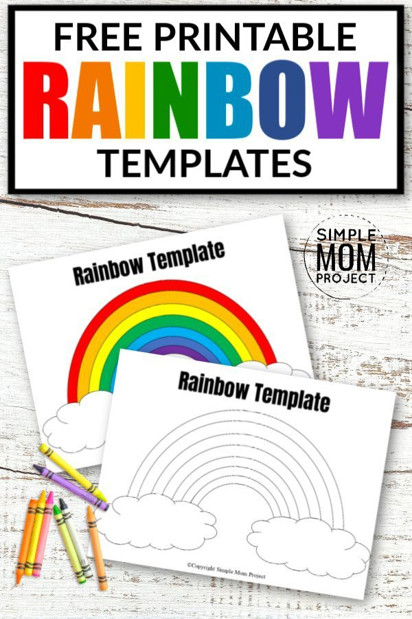 Free Printable Rainbow Templates In And Small Simple