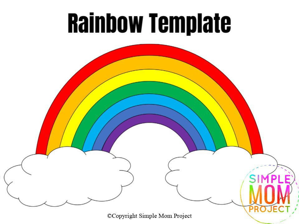Large Rainbow Template Colored
