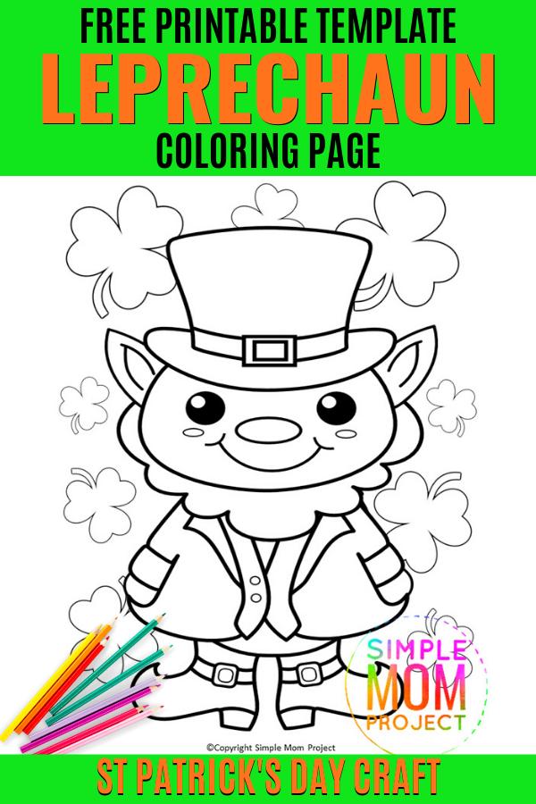 Leprechaun Coloring Page