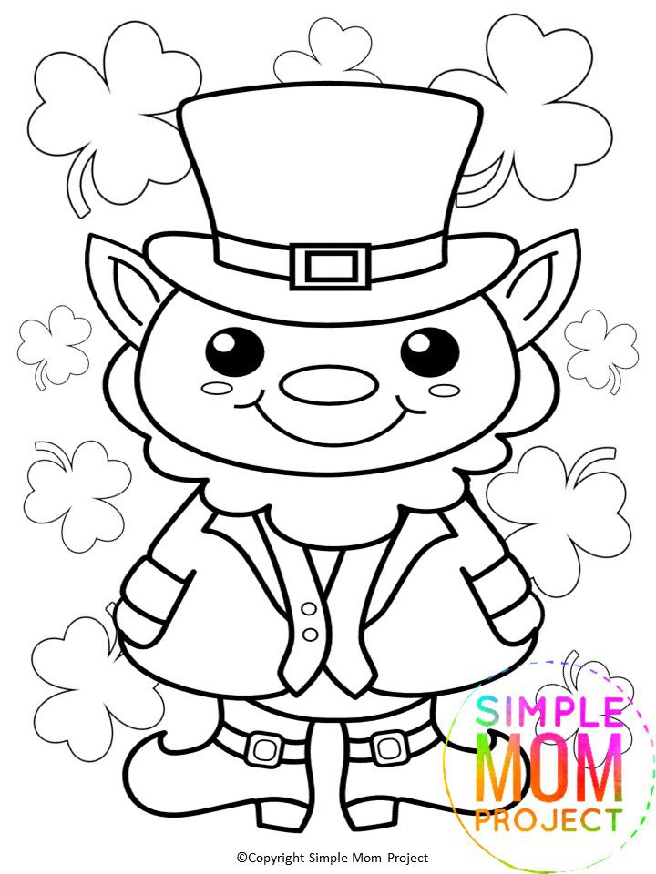 Free Printable St. Patrick's Day Coloring Page - Hey, Let's Make Stuff | 960x720