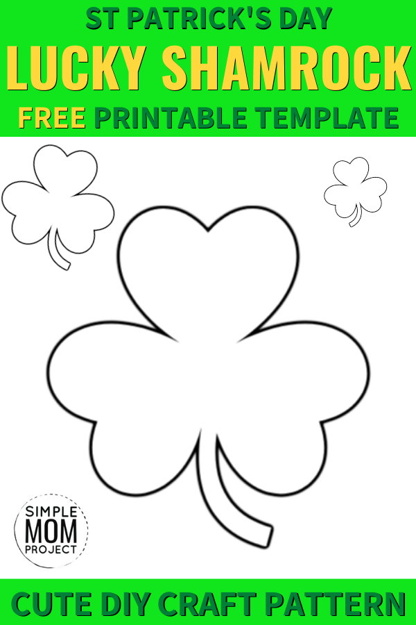 Free Printable Lucky Shamrock templates