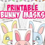 Do your kids love rabbits? Click and get these adorable bunny masks for your next craft activity! They are perfect for kids of all ages including preschoolers and toddlers! #bunnymasks #rabbitmasks