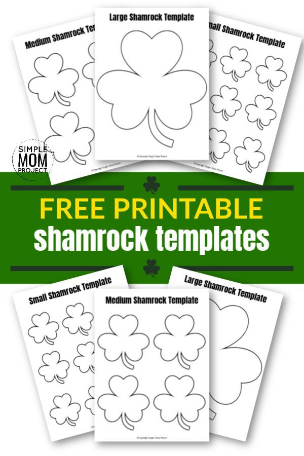 Click and get these free printable shamrock templates in large, medium and small! Perfect in any spring craft or classroom decoration for your preschoolers or toddlers. Use these shamrock templates as coloring pages or traceable activities. Either way, have fun! #StPatricksDay #StPatricksDayCrafts #Shamrock #ShamrockCrafts