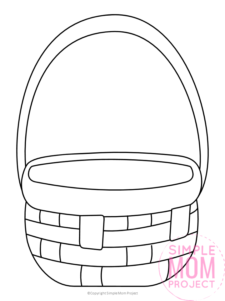 Free Printable Basket Template for picnic baskets and fruit baskets