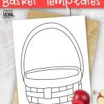 Use this free printable basket template in a wide variety of crafts; including fruit basket crafts, paper flowers, paper fruit or draw a cute hot air balloon on top. You could even add some yummy apples for a fun picnic basket craft! #BasketTemplates #FruitBaskets #SimpleMomProject