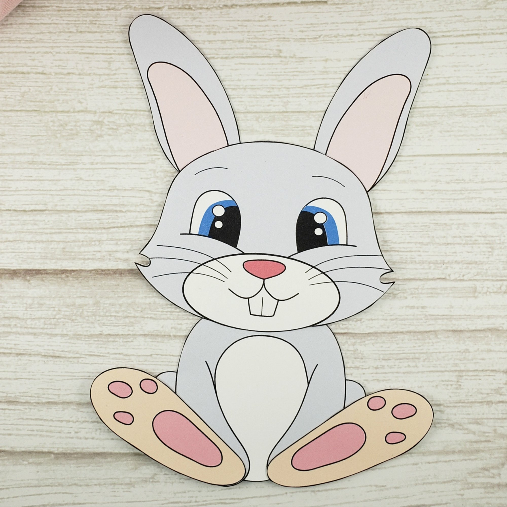 Easy Bunny Rabbit Free Printable Template craft for kids, toddlers and preschoolers