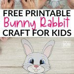 Looking for an easy bunny craft to do with your kids this spring? Use our free printable bunny template to build your own cottontail bunny rabbit craft! This cute DIY bunny craft is perfect is perfect for family worship, kindergarten, preschool or first grade class! #bunnyrabbitcrafts #BuildaBunny #BunnyCrafts #SimpleMomProject