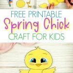 Looking for an easy baby chick craft idea to do with your kids this spring? Use our free printable farm chick template to build your own spring chick craft! This cute DIY spring craft is perfect for family worship, kindergarten, preschool and first grade class! #ChickCrafts #SpringChick #SimpleMomProject