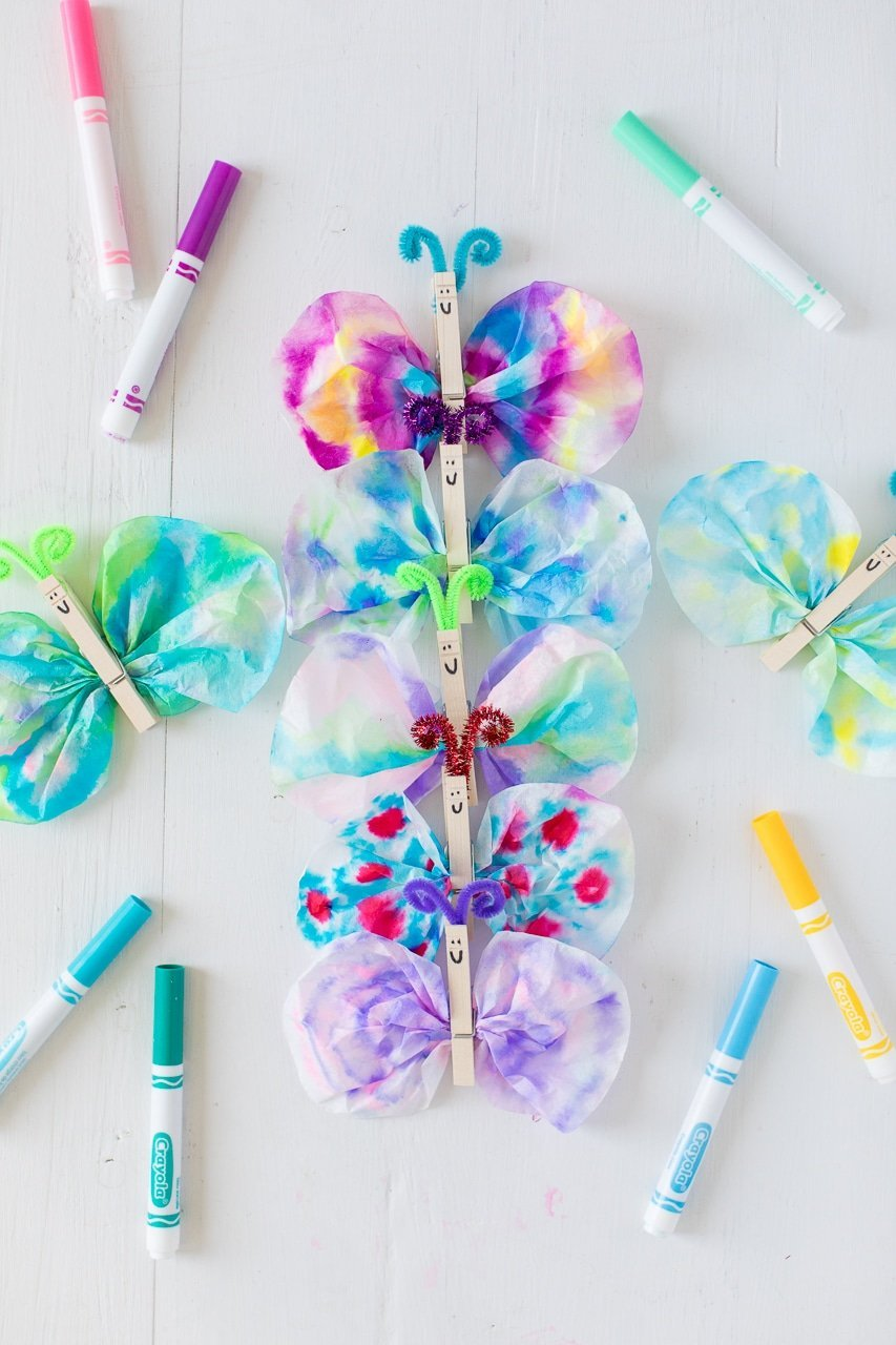 Fun and adorable spring and summer butterfly crafts for kids, preschoolers and toddlers