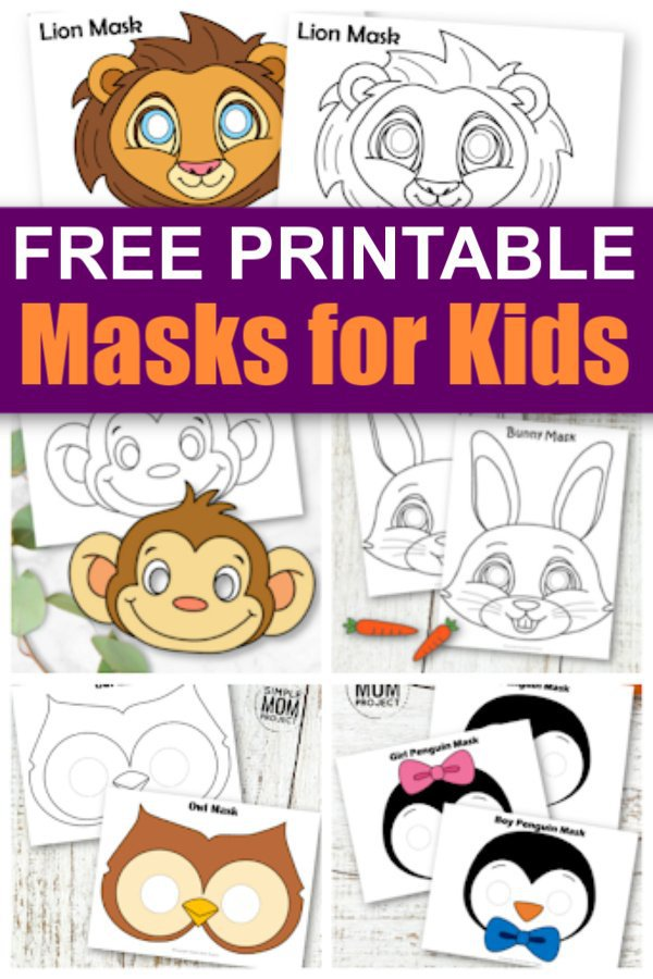 Free Printable Animal Mask Crafts for kids 2