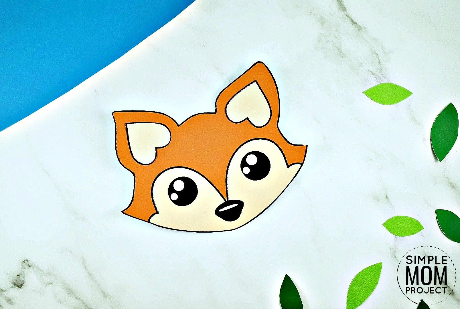 Free Printable Baby Fox Craft for kids, toddlers and preschoolers 1
