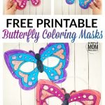 Click now to print this beautiful and FREE butterfly mask template! It's perfect for a fun masquerade party, quick and easy butterfly costume or a spring butterfly art project. Click and get yours now! #butterflymask #butterflymasktemplate #butterflytemplate #butterflycrafts